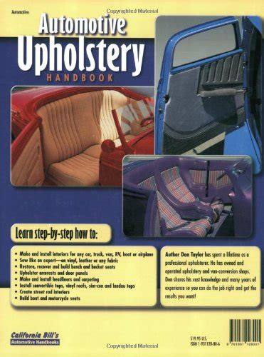 automotive upholstery handbook automotive upholstery handbook import it all