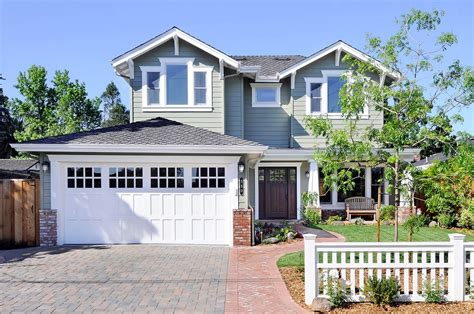 exterior house craftsman garage door house colors