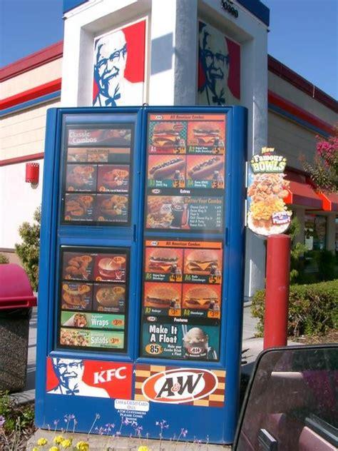 drive thru kfc menu drive thru menu yelp