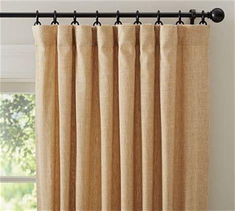 wheat curtains emery linen pole pocket drape 50 x 63 quot wheat