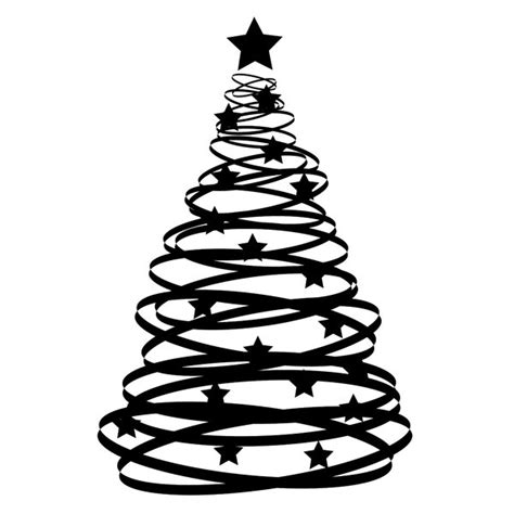 christmas tree vector black and white clipart best