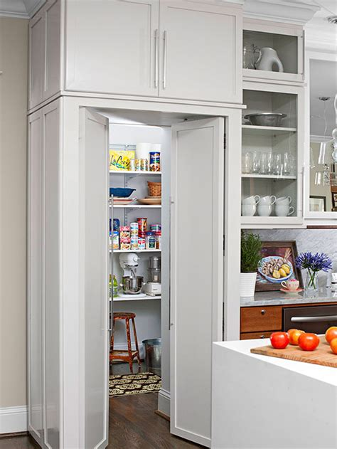 Walk In Cupboard Storage - walk in pantry cabinet ideas better homes gardens