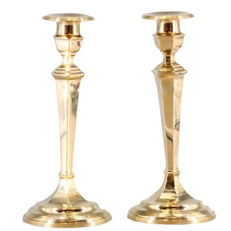 candlestick pattern for gold gorham retro pair of gold candlesticks for sale at 1stdibs
