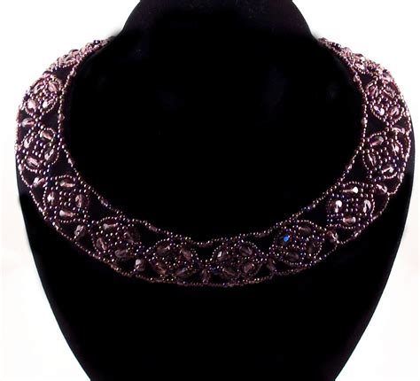 how to make a collar necklace with polished cluster collar necklace pattern beading