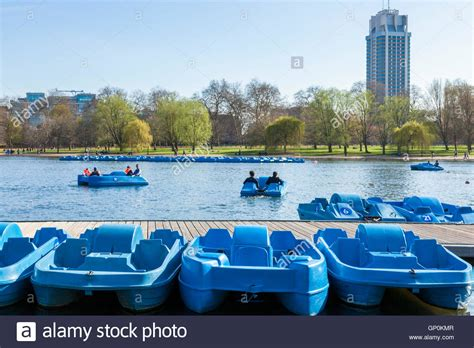 pedal boats on the serpentine hyde park london england - Pedal Boat In Hyde Park