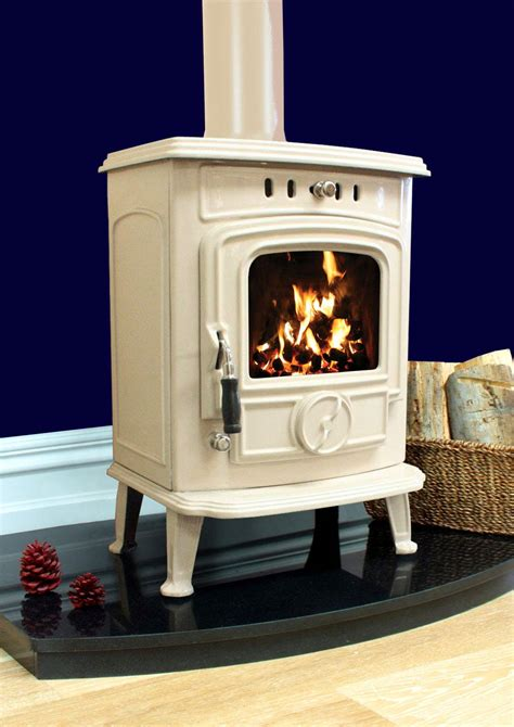 aran kw room heater stove cream enamel henley stoves