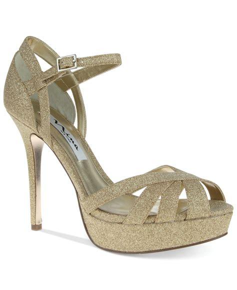 Sandal Platform Wedges Slop Gold senora platform evening sandals in gold royal gold