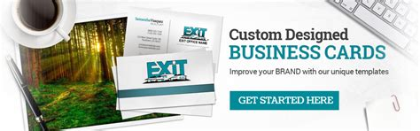 exit realty business cards template exit realty business cards free shipping custom exit