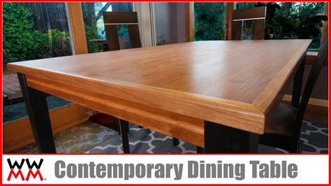 How To Make A Dining by How To Make A Contemporary Dining Table Diy Furniture