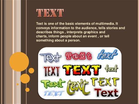 design elements of text media multimedia elements