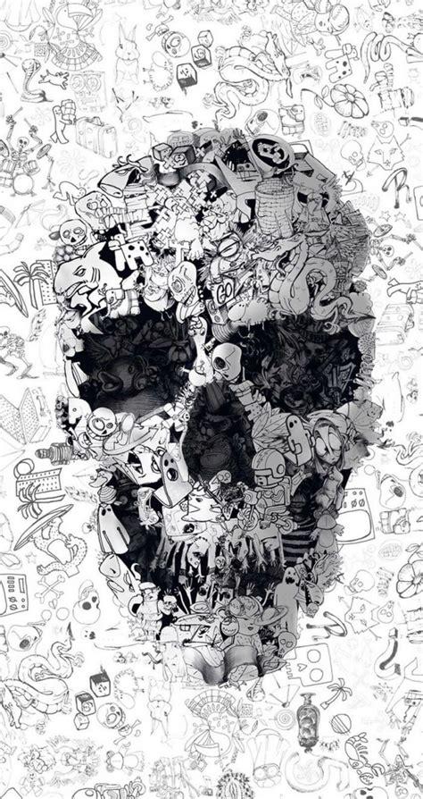 doodle skull skull wallpaper skull art graffiti wallpaper