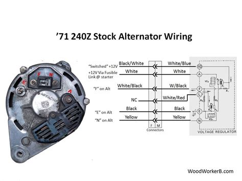datsun alternator wiring wiring diagram with description
