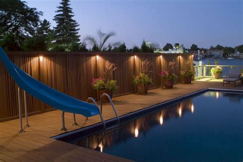pool deck lighting deck lighting ideas to get romantic warm and cozy