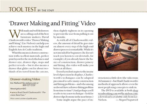 popular woodworking dvd drawer and fitting dvd review in popular woodworking