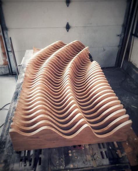 large wooden wall art modern art parametric wave  art