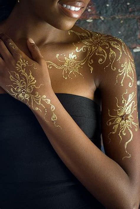 tattoo ink not permanent 20 beautiful gold tattoos not only for fashionistas