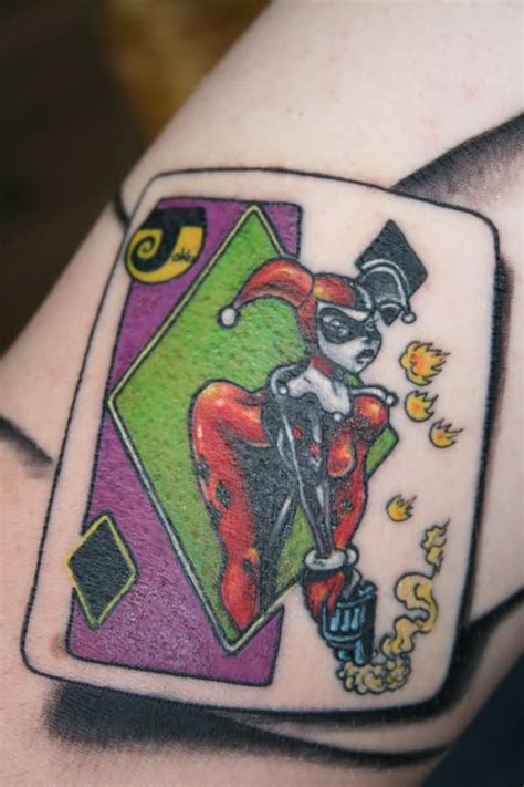 joker harley tattoo 10 harley quinn tattoos designs