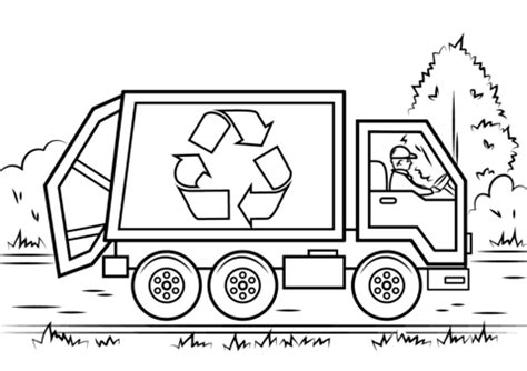 Recycling Truck Coloring Page Free Printable Coloring Pages Recycling Coloring Page
