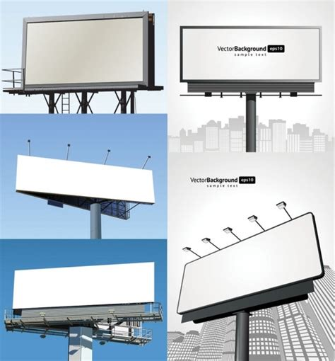 blank billboard vector free vector in encapsulated