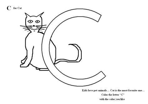 letter c coloring pages az coloring pages