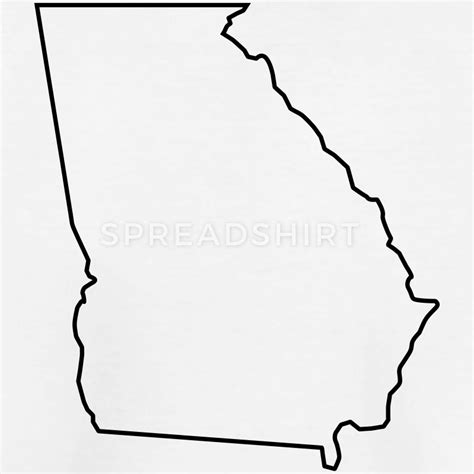 coloring page map of georgia georgia map landmap land country outline t shirt spreadshirt