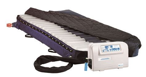 alternating pressure air mattress with gentle low air loss power pro blue chip
