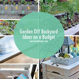 garden diy backyard ideas on a budget
