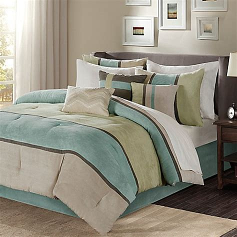 bed bath and beyond madison buy madison park palisades queen comforter set in aqua