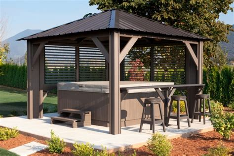spa gazebo cedar gazebo tub enclosures studio design