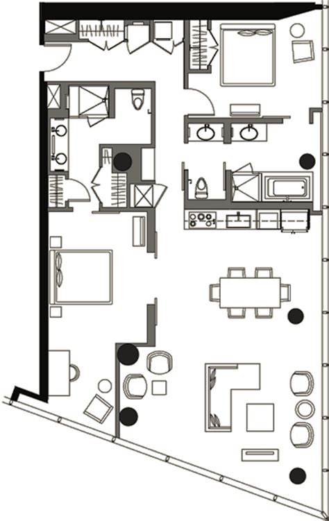 veer towers floor plans two bedroom floor plan v2b 9a 187 veer towers 187 citycenter