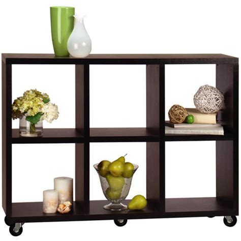 convenience concepts northfield 6 cube rolling shelf