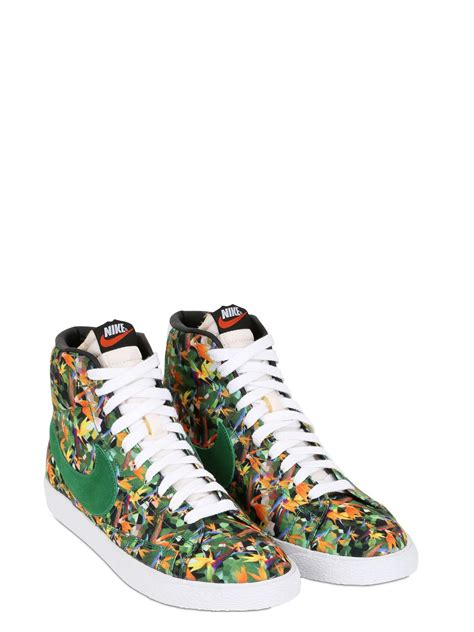 nike floral sneakers lyst nike blazer los angeles floral city sneakers for
