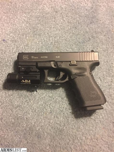 glock 19 4 light armslist for sale trade glock 19 gen4 with tac light