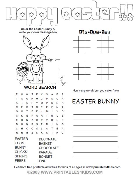 Free Easter Worksheets by Free Coloring Pages Of Easter Activities Pages