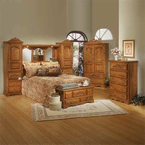 Bebe Furniture Country Heirloom Pier Bedroom Set Medium Medium Oak Bedroom Furniture
