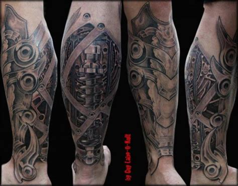 biomechanical tattoos for men 60 trendy biomechanical tattoos on leg