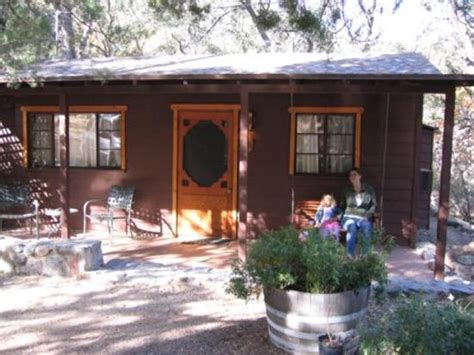 Madera Cabins by Front Of Cabin With Swing Porch In Back Picture