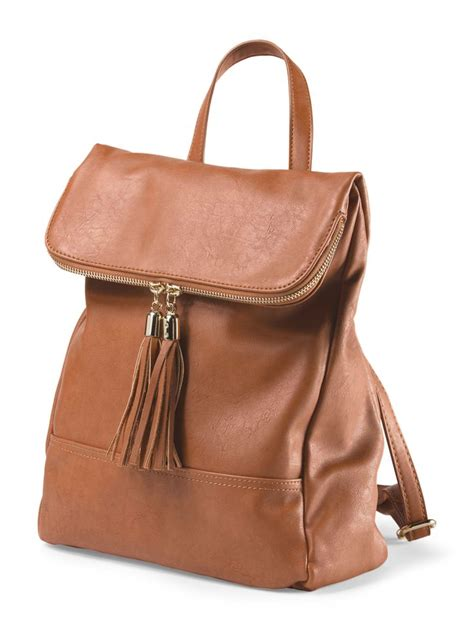 Stradivarius Backpack With Tassels 1 this gorgeous leather backpack with tassels is a fashionable but useful accessory handbag