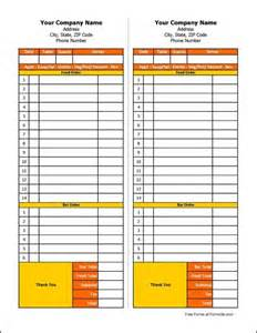 order slip template free restaurant order form from formville