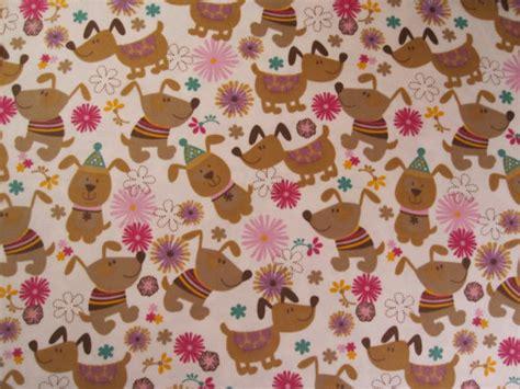 printable felt fabric 1 yard of dog dachshund print flannel fabric by