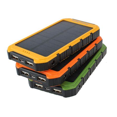 Power Bank Solar 60000mah best 18000mah solar panel 2a 1a battery power bank portable phone charger f7jv ebay