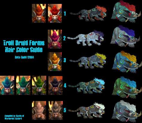 troll druid colors troll dudu welche farbe welche form druide wow