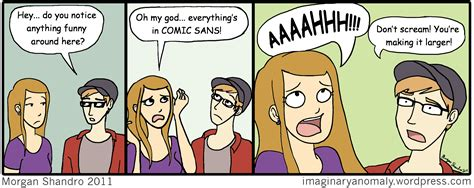comic sans imaginary anomaly