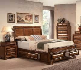 Furniture Sets Bedroom Acme Furniture Konance Brown Cherry Sleigh 5
