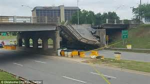 Semi Truck Accessories Okc Bridge Collapses Oklahoma City Expressway After Semi
