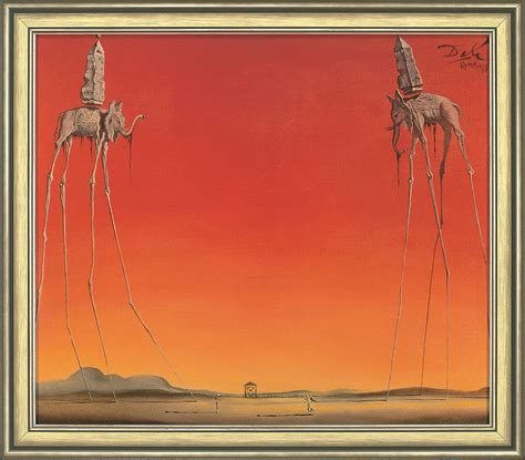 Salvadore Dali Werke by Quot Les Elephants Quot By Salvador Dali Reproduction
