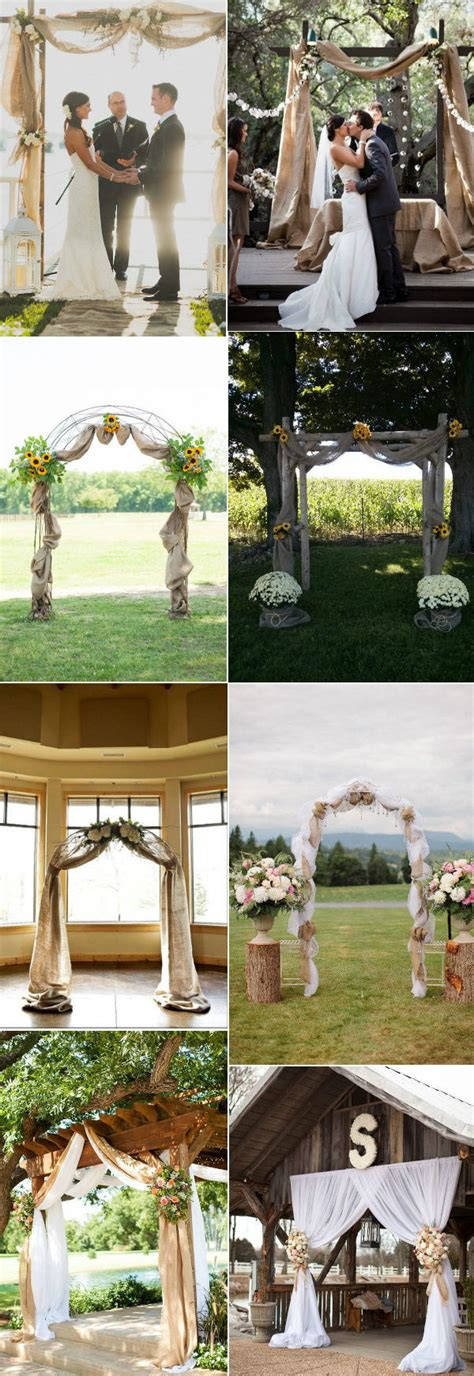 Wedding Arch Ideas With Burlap by 30 Rustic Burlap And Lace Wedding Ideas