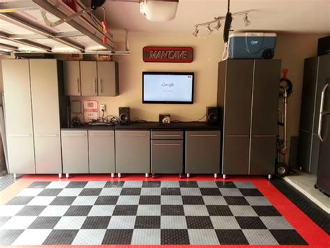 malcolm s 2013 garage makeover modular flooring ulti