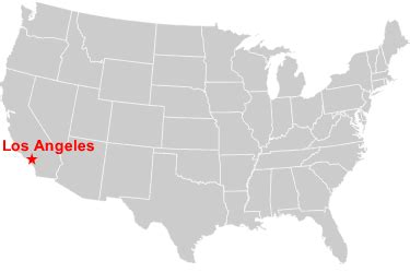 la in usa map where is los angeles in the usa map