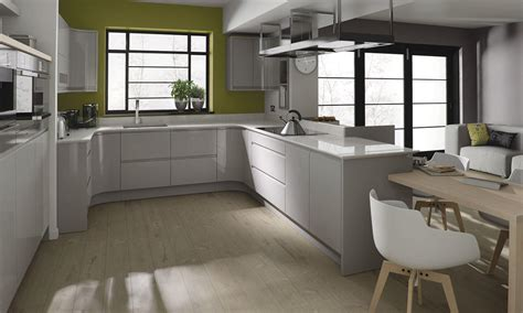 Kitchen Design Colour Schemes Remo Contemporary Curved Gloss Kitchen In Grey